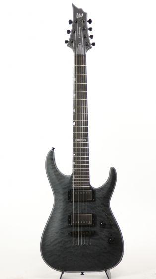ESP LTD H7-2015 40TH Anniversary See Thru Black Satin Electric Guitar 6SLH72015