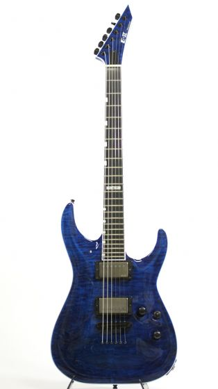 ESP E-II Horizon NT II Black Aqua (Overseas Model) w/ Case 6SEIIHORNTIIBKAQ