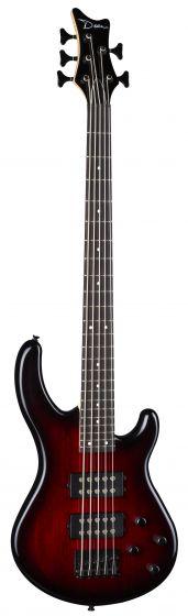 Dean Edge 2 5-String Bass Guitar Trans Red E2 5 SM TRD E2 5 SM TRD