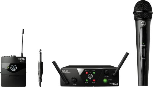 AKG WMS40 Mini Dual Vocal Instrumental Set - Channels C/D 3352X00060