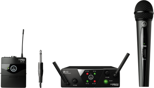 AKG WMS40 Mini Dual Vocal Instrumental Set - Frequency A & C 3352H00020