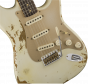 Fender Custom Shop 2017 Limited '59 Stratocaster - Heavy Relic  Aged Olympic White Electric Guitar 9235000485