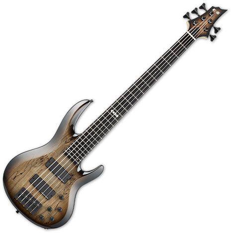 ESP E-II BTL-5 5 String Electric Bass Black Natural Burst EIIBTL5BLKNB