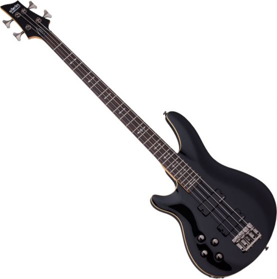 Schecter Omen-4 Left-Handed Electric Bass in Gloss Black Finish sku number SCHECTER2092