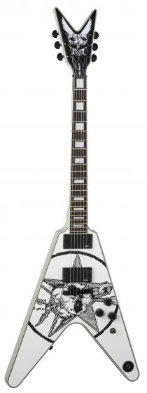 Dean Eric Peterson Old Skull V Limited CWH White Electric Guitar EPV CWH EPV CWH