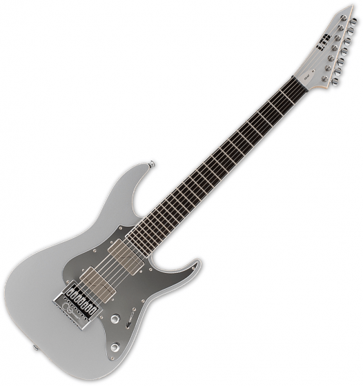 ESP LTD Ken Susi KS M-7 Evertune 7-String Signature Electric Guitar Metallic Silver LKSM7ETMS