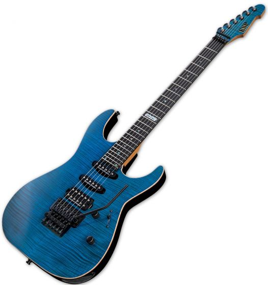 ESP USA M-III Electric Guitar in See Thru Blue EUSMIIISTB