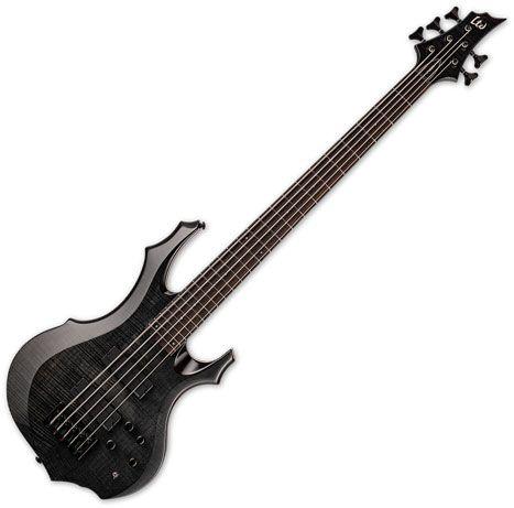 ESP LTD F-1005 5 String Electric Bass See Thru Black LF1005FMSTBLK