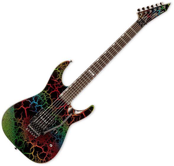 ESP LTD M-1 Custom 87 Electric Guitar in Rainbow Crackle Finish sku number LM1CTM87RBCRK