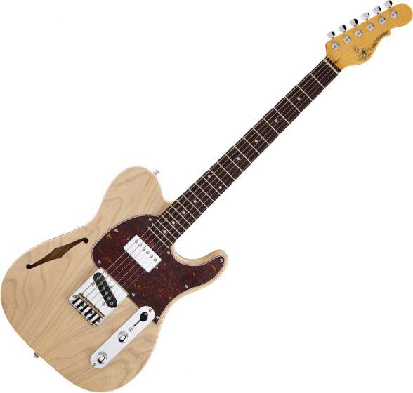 G&L Tribute ASAT Classic Bluesboy Semi-Hollow Electric Guitar Blonde TI-ACB-S24R37R43