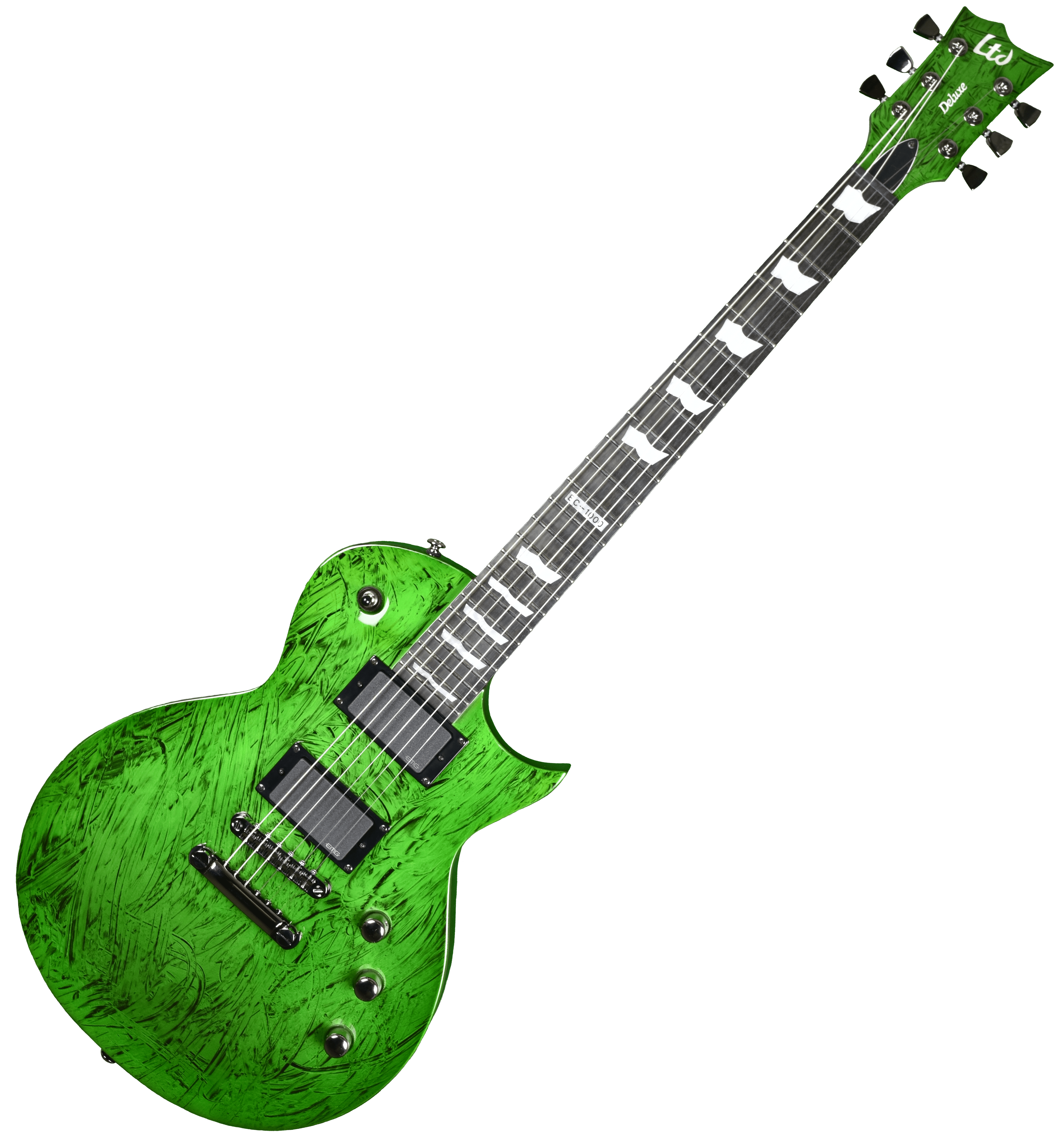 esp ltd deluxe ec 1000 electric guitar in swirl green finish. Black Bedroom Furniture Sets. Home Design Ideas