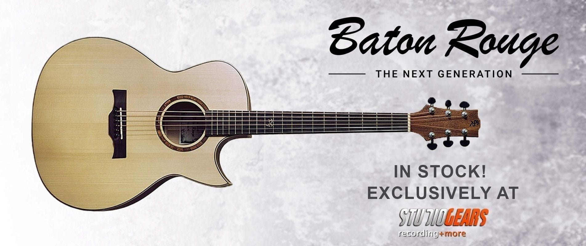 Baton Rouge Guitars exclusively at Studio Gears