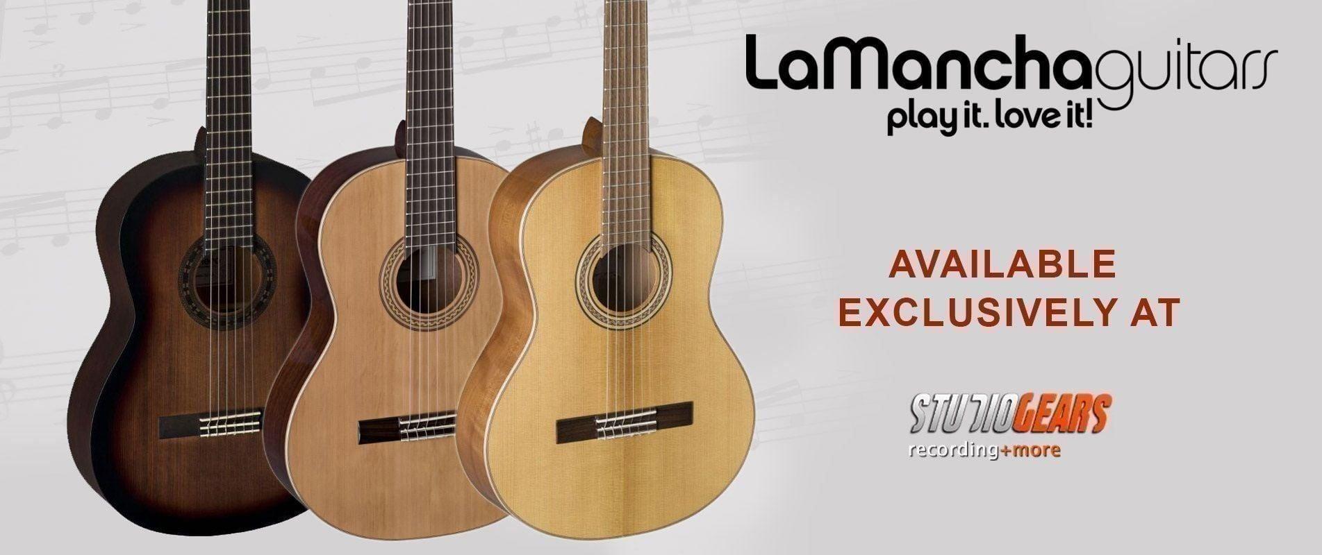 La Mancha guitars exclusively at Studio Gears