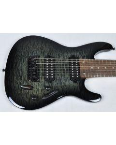 Ibanez S8QM-TGB S Series 8 String Electric Guitar in Transparent Gray Burst Finish
