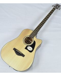 Ibanez AWB50CE-LG Artwood Series Acoustic Electric Bass in Natural Low Gloss Finish AWB50CELG
