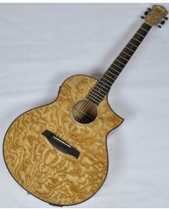 Ibanez AEW40AS-NT AEW Series Acoustic Electric Guitar in Natural High Gloss Finish AEW40ASNT