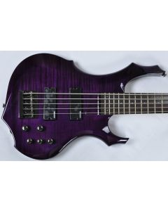 ESP LTD F-155DX Electric Bass in Dark See-Thru Purple B-Stock