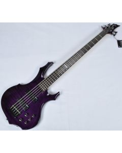 ESP LTD F-155DX Electric Bass in Dark See-Thru Purple B-Stock LF155DXDSTP.B