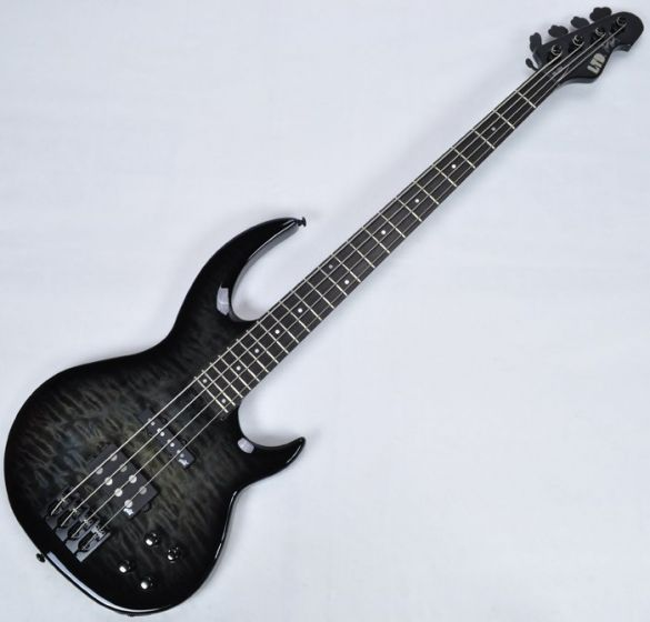 ESP LTD BB-1004QM Bunny Brunel Electric Bass in See Thru Black