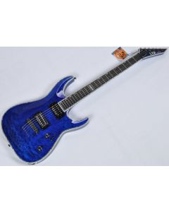 ESP LTD Deluxe MH-1000NT Electric Guitar in See Thru Blue B-Stock LMH1000NTSTB.B
