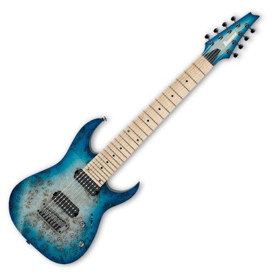 Ibanez RG852MPB-GFB Prestige RG Series 8 String Electric Guitar in Ghost Fleet Blue Finish