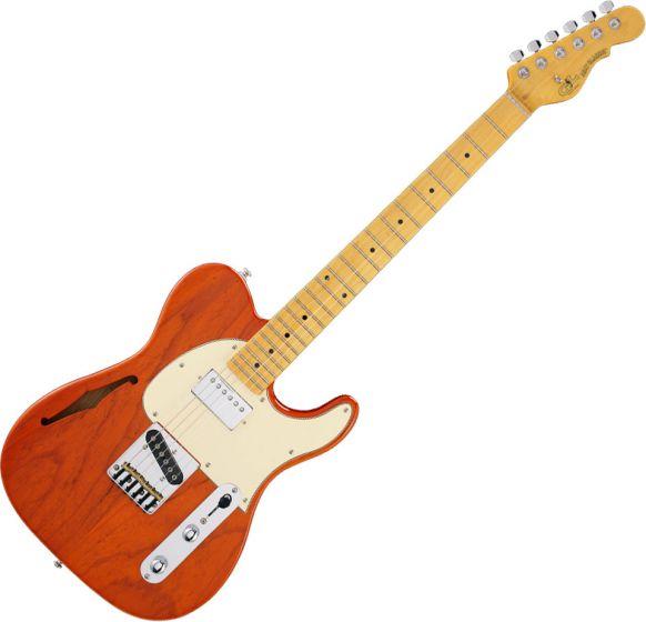 G&L Tribute ASAT Classic Bluesboy Semi-Hollow Electric Guitar Clear Orange