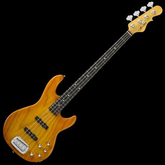 G&L MJ-4 USA Custom Made Electric Bass in Honeyburst