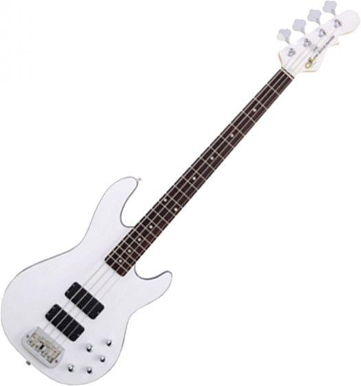 G&L Tribute M-2000 GTB Bass Guitar in Gloss White Finish