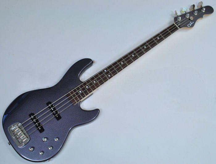G&L MJ-4 USA Custom Made Electric Bass in Graphite Metallic