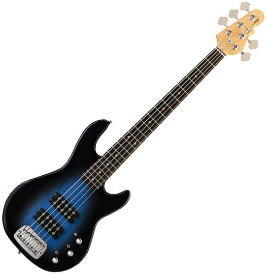 G&L Tribute L-2500 5 Strings Bass in Blueburst Rosewood - Store Demo!