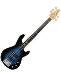 G&L Tribute L-2500 5 Strings Bass in Blueburst Rosewood - Store Demo! TI-L25-BLB.B
