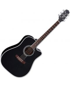 Takamine EF341SC Legacy Series Acoustic Guitar in Gloss Black Finish TAKEF341SC