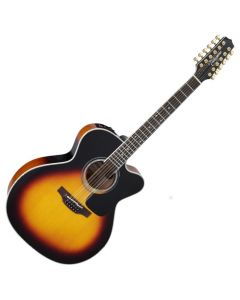 Takamine P6JC-12 BSB Pro Series 6 Cutaway 12 String Acoustic Guitar in Brown Sunburst Finish TAKP6JC12BSB