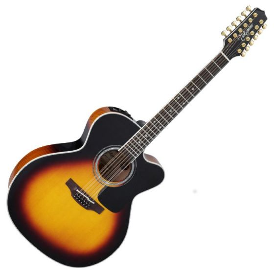Takamine P6JC-12 BSB Pro Series 6 Cutaway 12 String Acoustic Guitar in Brown Sunburst Finish