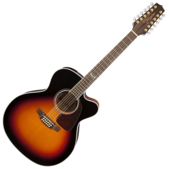 Takamine GJ72CE-12BSB G-Series G70 12 String Acoustic Guitar in Brown Sunburst Finish