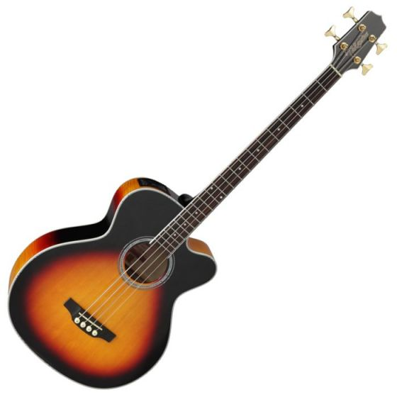 Takamine GB72CE-BSB G-Series Acoustic Electric Bass in Brown Sunburst Finish
