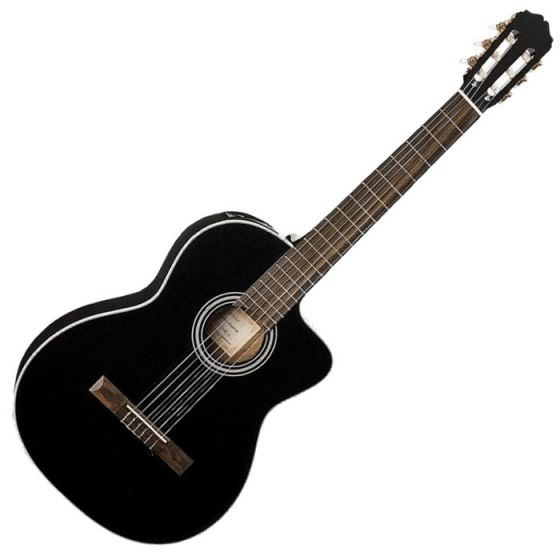 Takamine GC3CE-BLK G-Series Acoustic Electric Classical Guitar in Black Finish