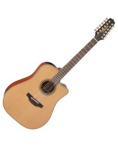 Takamine P3DC-12 Pro Series 3 Cutaway 12 String Acoustic Electric Guitar in Satin Finish TAKP3DC12