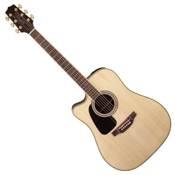 Takamine GD51CELH-NAT G-Series G50 Cutaway Left Handed Acoustic Electric Guitar in Natural Finish