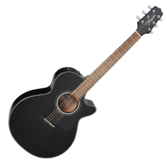 Takamine GF30CE-BLK G-Series G30 Cutaway Acoustic Electric Guitar in Black Finish