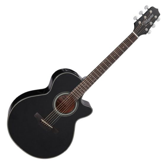 Takamine GF15CE-BLK G-Series G15 Cutaway Acoustic Electric Guitar in Black Finish