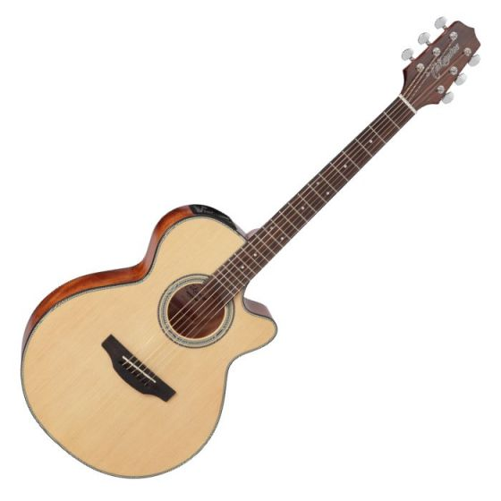 Takamine GF15CE-NAT G-Series G15 Cutaway Acoustic Electric Guitar in Natural Finish