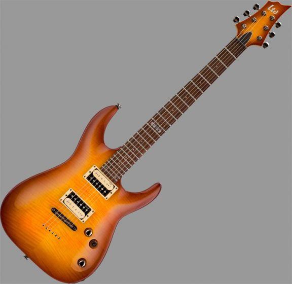 ESP LTD H-101FM Guitar in Amber Sunburst Finish B-Stock