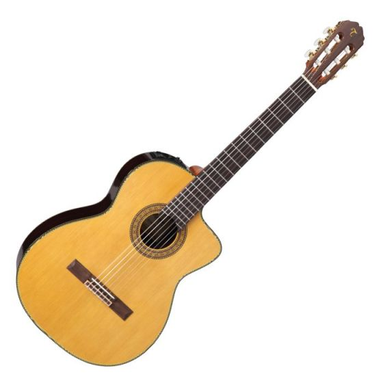 Takamine TC132SC Left Handed Classical Acoustic Electric Guitar in Natural Gloss Finish