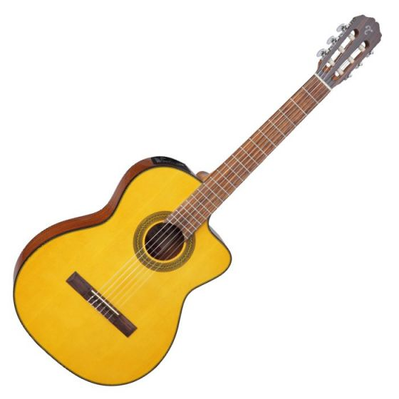 Takamine GC1CE-NAT G-Series Classical Acoustic Electric Guitar in Natural Finish