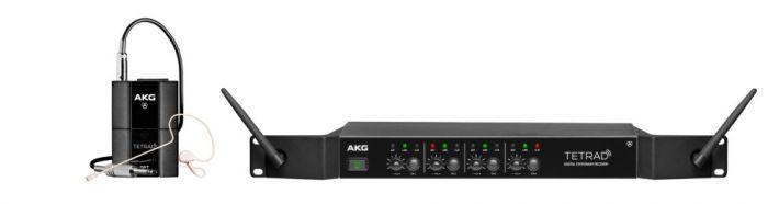 AKG DMSTETRAD Performer Set - Professional Digital Four Channel Wireless System