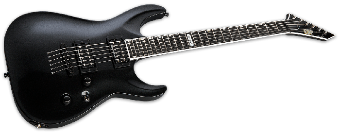 ESP USA Horizon-II Electric Guitar in Sapphire Black Metallic Duncan