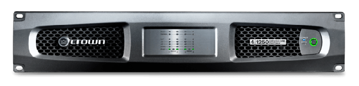 Crown Audio DCi 4|1250 Four-channel 1250W @ 4Ω Analog Power Amplifier 70V/100V