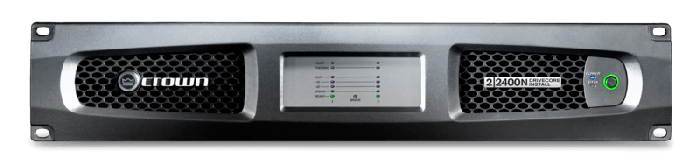 Crown Audio DCi 2|2400N Two-channel 2400W @ 4Ω Power Amplifier with BLU Link 70V/100V