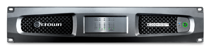 Crown Audio DCi 4|300N Four-channel 300W @ 4Ω Power Amplifier with BLU Link 70V/100V